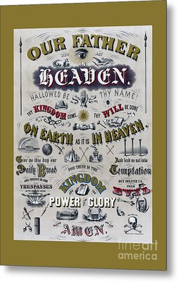The Lords Prayer Metal Print by Edward Fielding