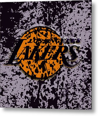 The Los Angeles Lakers B2a Metal Print