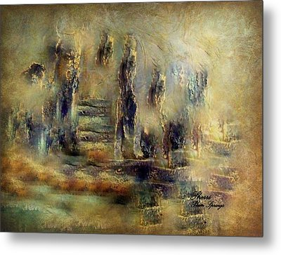 Metal Print featuring the painting The Lost City By Sherriofpalmsprings by Sherri  Of Palm Springs
