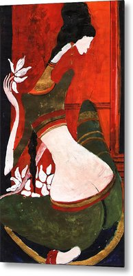 The Lotus Metal Print by Maya Manolova
