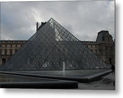 Metal Print featuring the photograph The Louvre And I.m. Pei by Christopher Kirby