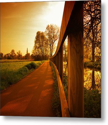 Metal Print featuring the photograph The Low Road by Philippe Sainte-Laudy