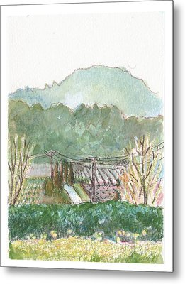 The Luberon Valley Metal Print by Tilly Strauss