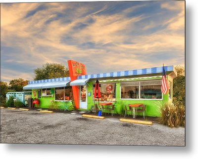 The Lucky Dog Diner At Sunset - 1 Metal Print