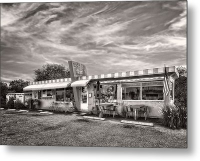 The Lucky Dog Diner At Sunset - 2 Metal Print