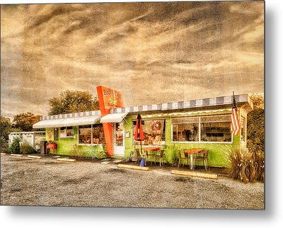 The Lucky Dog Diner At Sunset - 3 Metal Print