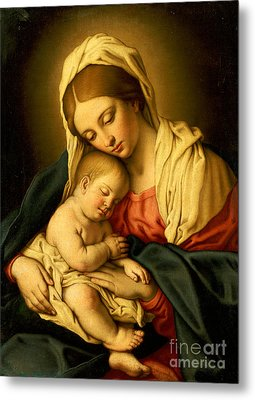 The Madonna And Child Metal Print