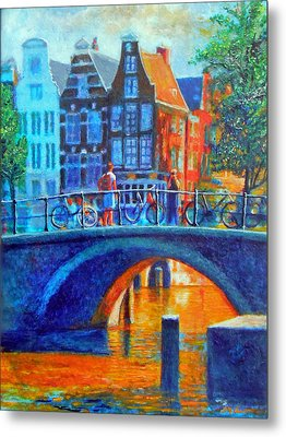The Magic Of Amsterdam Metal Print by Michael Durst
