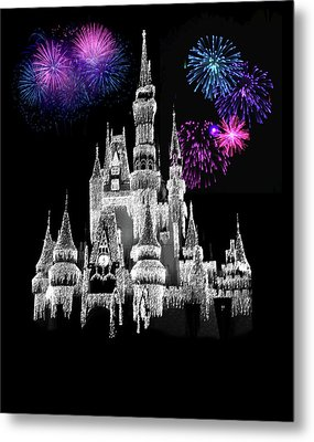 The Magical Kingdom Castle Metal Print by Art Spectrum