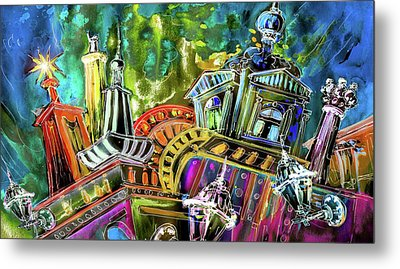 The Magical Rooftops Of Prague 02 Metal Print by Miki De Goodaboom