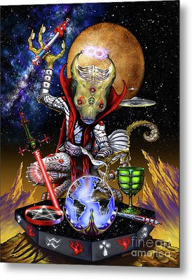 The Magician 78 Tarot Astral Card Metal Print by Stanley Morrison