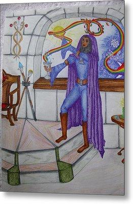 The Magician Metal Print by Carol Frances Arthur