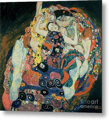 The Maiden Metal Print by Gustav Klimt