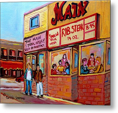 The Main Steakhouse On St. Lawrence Metal Print by Carole Spandau