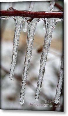 The Makings Of Winter Metal Print by Debra Straub