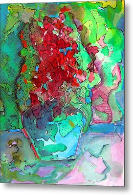 The Man In The Flower Pot Metal Print by Mindy Newman