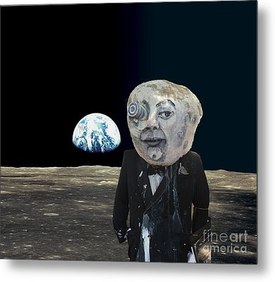 The Man In The Moon Metal Print by Rafael Salazar