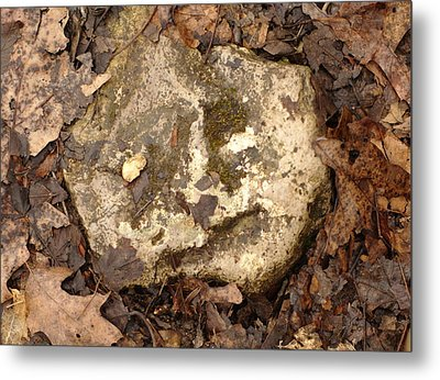 The Man In The Rock Metal Print