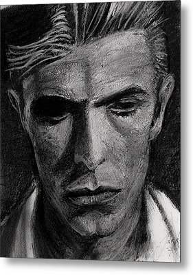 Metal Print featuring the painting The Man Who Fell To Earth 1976 by Jarko Aka Lui Grande