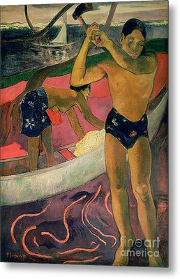 The Man With An Axe Metal Print by Paul Gauguin