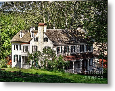 The Mansion At Hopewell Furnace Metal Print by Olivier Le Queinec
