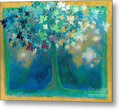 The Mantra Tree Metal Print by S Arathi Ma Tonti