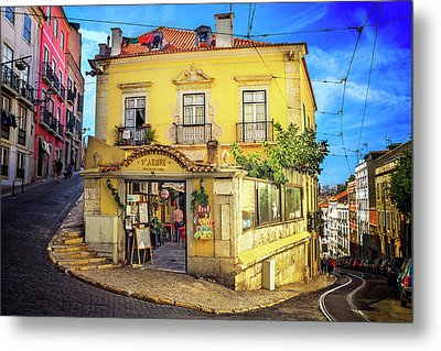 The Many Colors Of Lisbon Old Town  Metal Print
