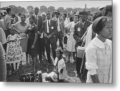 The March On Washington  Washington Monument Grounds Metal Print by Nat Herz