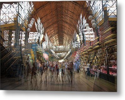 Metal Print featuring the photograph The Market Hall by Alex Lapidus