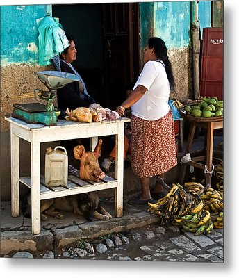 The Market Metal Print by Ron Dubin