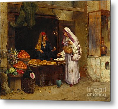 The Market Stall Metal Print by Rudolphe Ernst