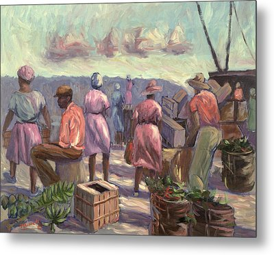 The Marketplace Metal Print by Carlton Murrell