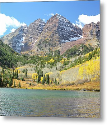The Maroon Bells 2 Metal Print by Eric Glaser
