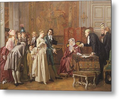 The Marriage  Metal Print by Jules Adolphe Goupil