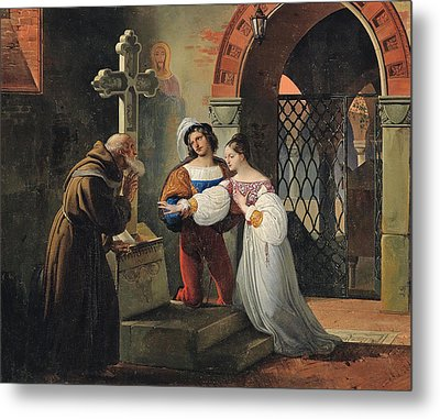 The Marriage Of Romeo And Juliet  Metal Print by Francesco Hayez