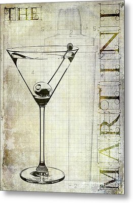 The Martini Metal Print