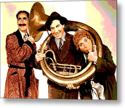 The Marx Brothers Metal Print by Charles Shoup