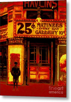 The Matinee - 20130207 Metal Print by Wingsdomain Art and Photography