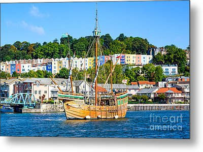 Metal Print featuring the photograph The Matthew In Bristol Harbour by Colin Rayner
