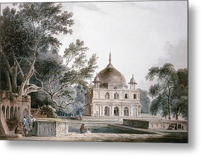 The Mausoleum Of Prince Khusrau Metal Print by Thomas and William Daniell