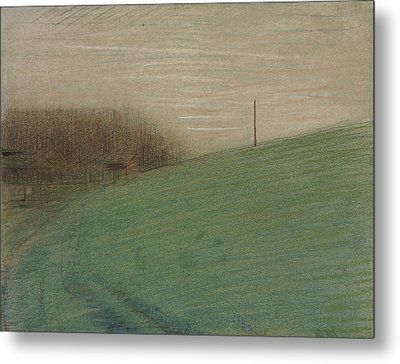 The Meadow Metal Print by Georges-Pierre Seurat