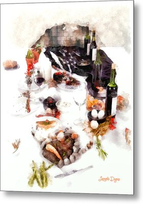 The Meal - Da Metal Print by Leonardo Digenio
