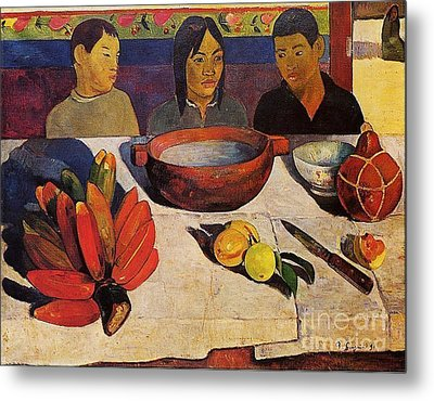 The Meal, The Bananas Metal Print by Gauguin