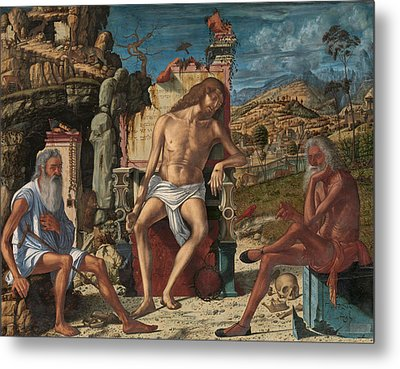 The Meditation On The Passion Metal Print by Vittore Carpaccio