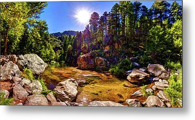 The Meditation Pond Metal Print by ABeautifulSky Photography
