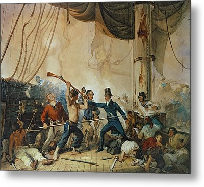 The Melee On Board The Chesapeake Metal Print by Anonymous
