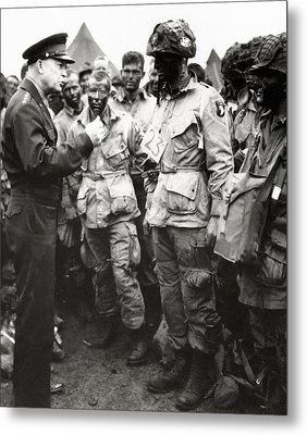 The Men Of Company E Of The 502nd Parachute Infantry Regiment Before D Day Metal Print by American School