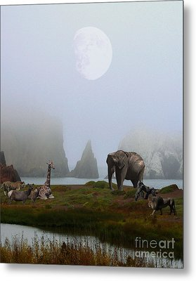 The Menagerie Metal Print by Wingsdomain Art and Photography