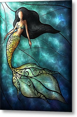 The Mermaid Metal Print by Mandie Manzano