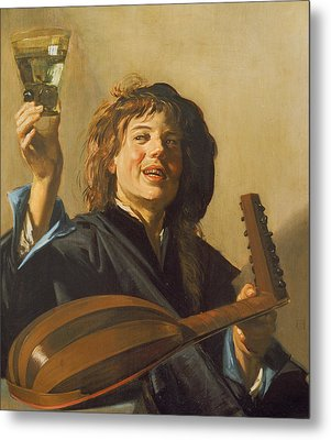 The Merry Lute Player Metal Print